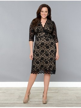 Kiyonna Scalloped Lace Dress